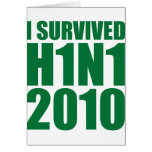 I SURVIVED H1N1 2010 in green Cards