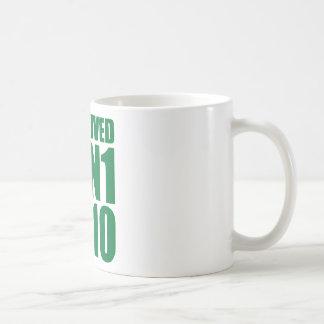 I SURVIVED H1N1 2010 in green Classic White Coffee Mug