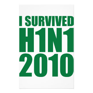 I SURVIVED H1N1 2010 in green Stationery