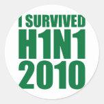 I SURVIVED H1N1 2010 in green Sticker
