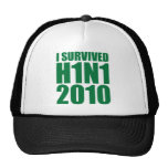 I SURVIVED H1N1 2010 in green Trucker Hats