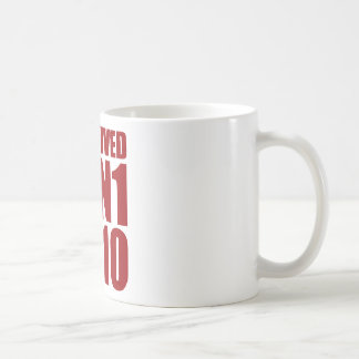 I SURVIVED H1N1 2010 in red Coffee Mug