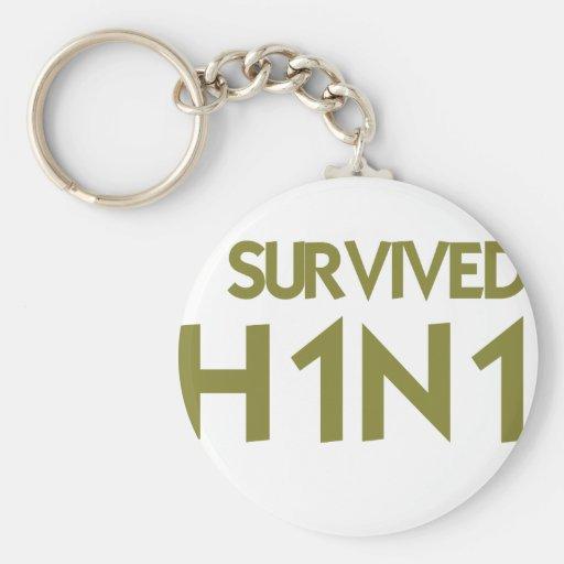 I Survived H1N1 Basic Round Button Keychain