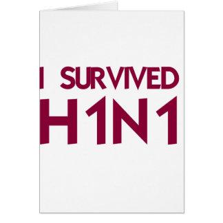 I Survived H1N1 Card
