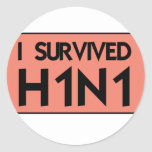 I Survived H1N1 Classic Round Sticker