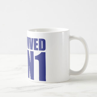 I SURVIVED H1N1 in blue Coffee Mug