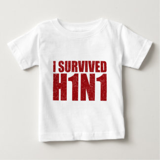 I SURVIVED H1N1 in distressed red Shirt