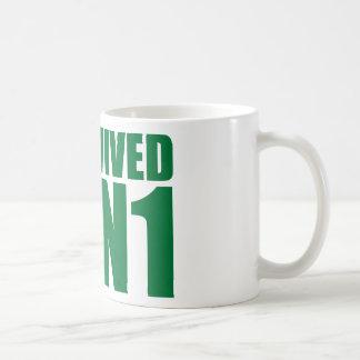 I SURVIVED H1N1 in green Classic White Coffee Mug