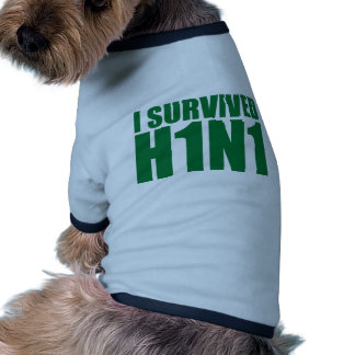 I SURVIVED H1N1 in green Pet Tee Shirt