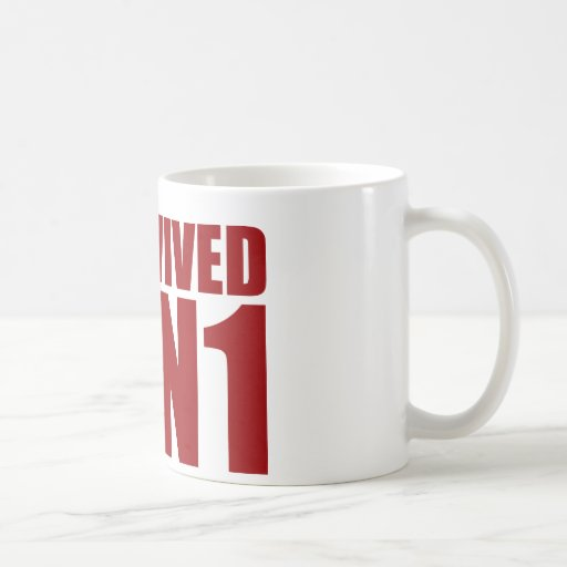 I SURVIVED H1N1 in red Classic White Coffee Mug