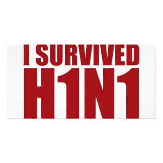 I SURVIVED H1N1 in red Photo Card Template