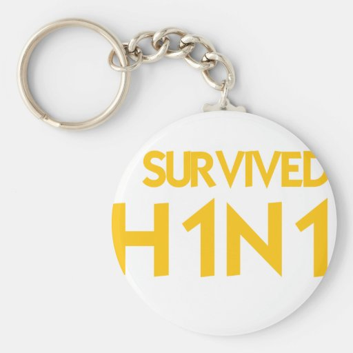 I Survived H1N1 Key Chains