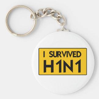 I Survived H1N1 Keychain