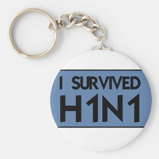 I Survived H1N1 Keychain