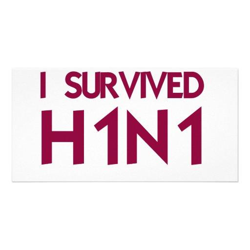 I Survived H1N1 Photo Card