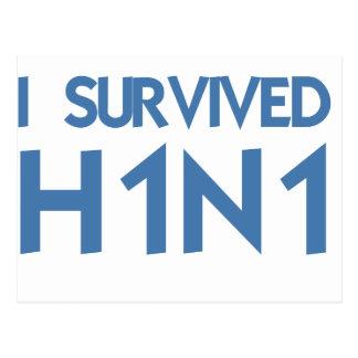 I Survived H1N1 Postcard