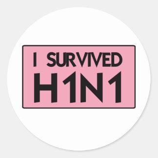 I Survived H1N1 Round Stickers