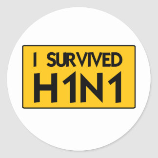 I Survived H1N1 Stickers