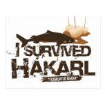 I survived Hákarl postcard