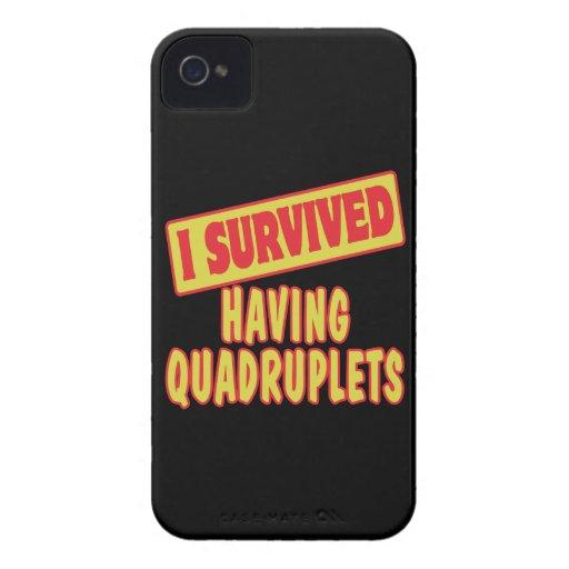 I SURVIVED HAVING QUADRUPLETS iPhone 4 Case-Mate CASES