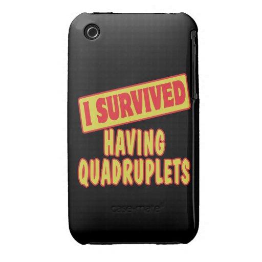 I SURVIVED HAVING QUADRUPLETS iPhone 3 Case-Mate CASE