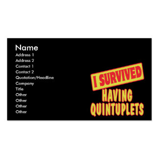 I SURVIVED HAVING QUINTUPLETS Double-Sided STANDARD BUSINESS CARDS (Pack OF 100)