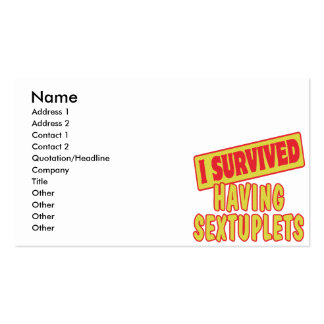 I SURVIVED HAVING SEXTUPLETS Double-Sided STANDARD BUSINESS CARDS (Pack OF 100)