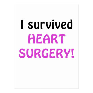 I Survived Heart Surgery Postcard