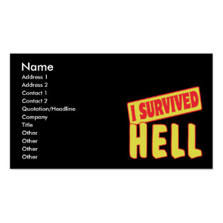 I SURVIVED HELL Double-Sided STANDARD BUSINESS CARDS (Pack OF 100)