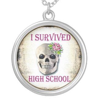 I survived high school, graduation gift pendant