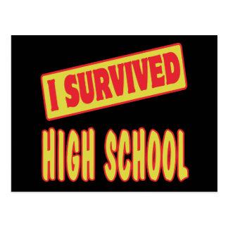I SURVIVED HIGH SCHOOL POSTCARD