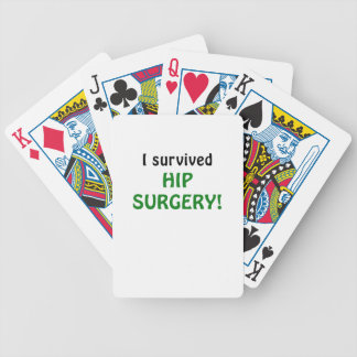 I Survived Hip Surgery Bicycle Playing Cards