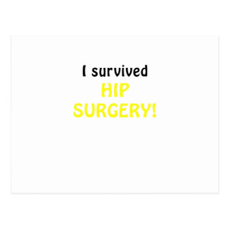 I Survived Hip Surgery Postcard