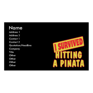 I SURVIVED HITTING A PINATA Double-Sided STANDARD BUSINESS CARDS (Pack OF 100)