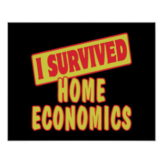 I SURVIVED HOME ECONOMICS POSTERS