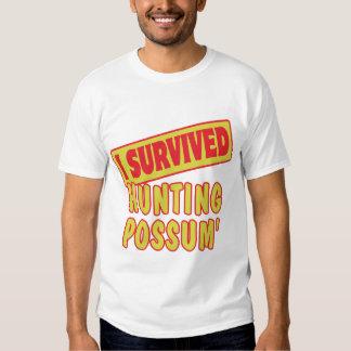 I SURVIVED HUNTING POSSUM TEE SHIRT