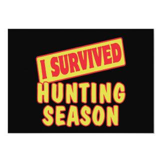 I SURVIVED HUNTING SEASON INVITATIONS