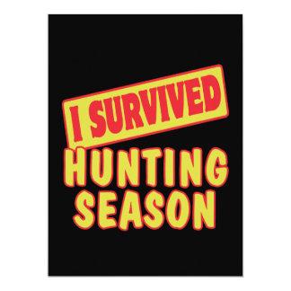 I SURVIVED HUNTING SEASON CUSTOM INVITATIONS