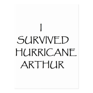 I Survived Hurricane Arthur Postcard