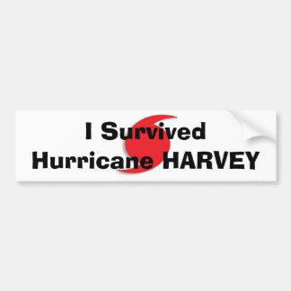 I Survived Hurricane HARVEY bumper sticker