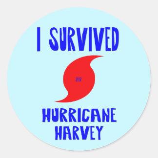 I Survived Hurricane Harvey Classic Round Sticker
