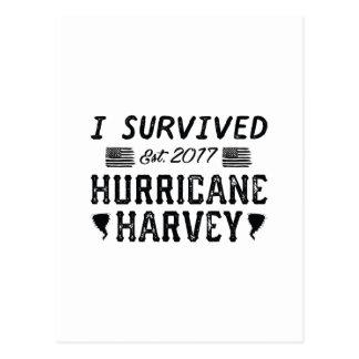 I Survived Hurricane Harvey Postcard