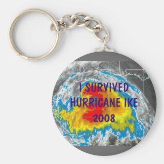 I SURVIVED HURRICANE IKE 2008 KEYCHAIN