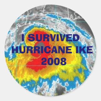 I SURVIVED HURRICANE IKE  2008 STICKERS