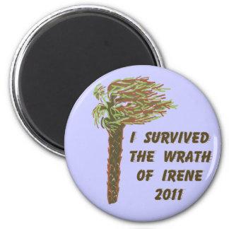 I Survived Hurricane Irene - Blue Magnet