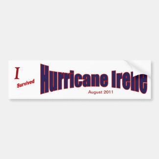 I Survived Hurricane Irene Bumper Sticker