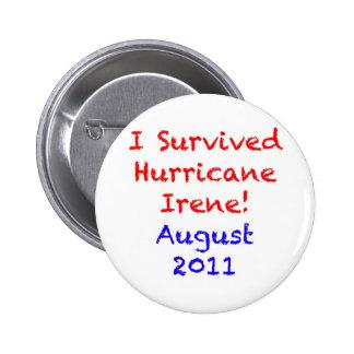 I Survived Hurricane Irene Button