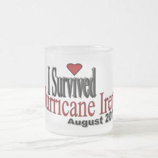 I Survived Hurricane Irene Frosted Glass Mug