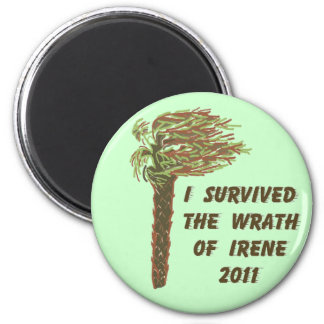 I Survived Hurricane Irene - Green Magnet