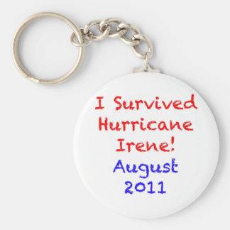 I Survived Hurricane Irene Key Chains